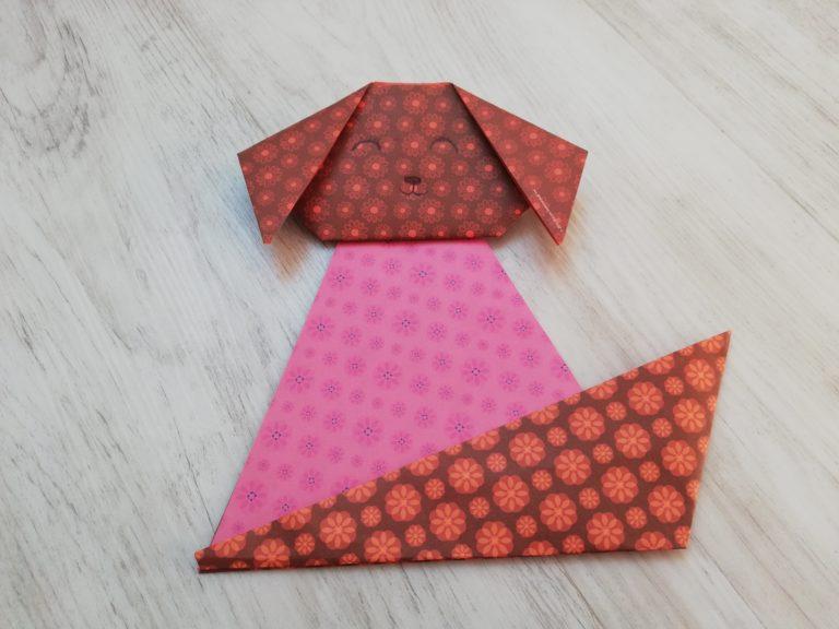 origami facile chien