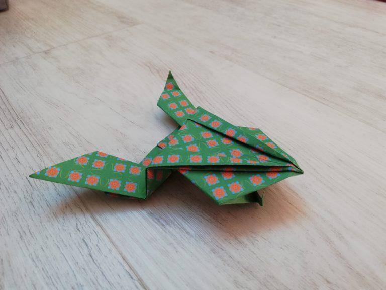origami facile grenouille