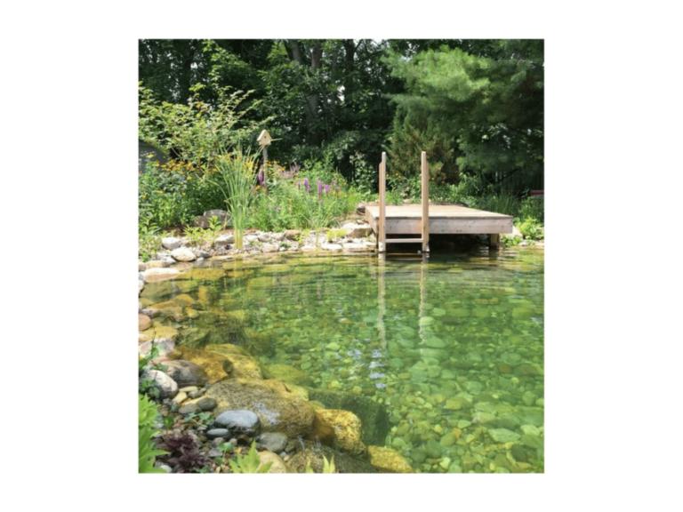 piscine écologique naturelle avec galet